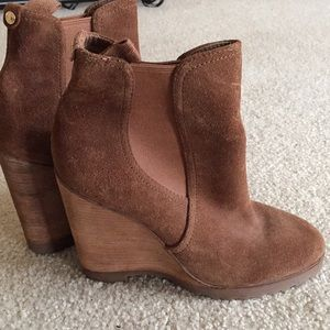 MK Swede booties, tried on never worn